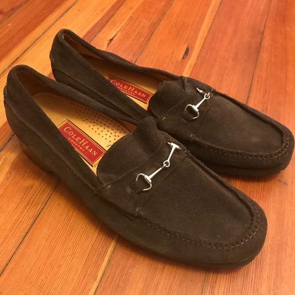 6cf6bc36519 Cole Haan Shoes - Cole Haan Handsewn Suede Horsebit Country Loafers
